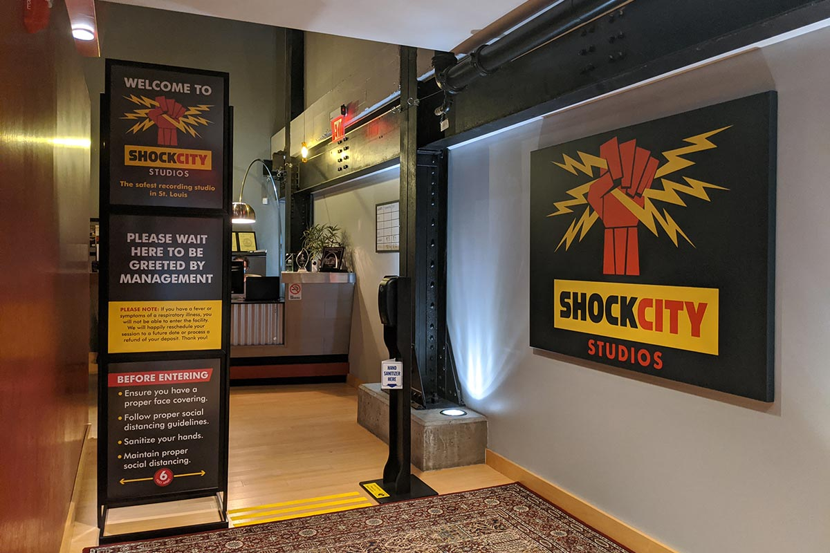 Shock City Studios COVID-19 Entrance